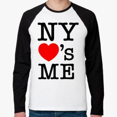 Футболка реглан с длинным рукавом New York Loves Me