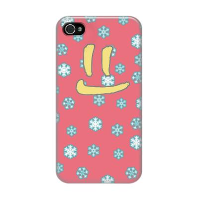 Чехол для iPhone 4/4s Снежная улыбка