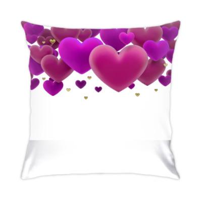 Подушка воздушные сердечки