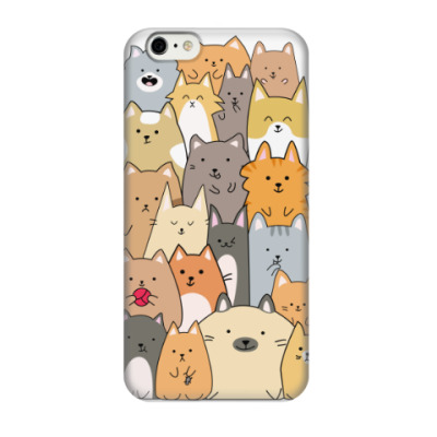 Чехол для iPhone 6/6s Смешные коты (funny cats)