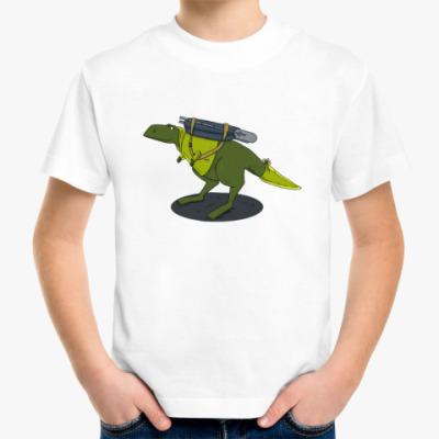 Детская футболка Тираннозавр-путешественник