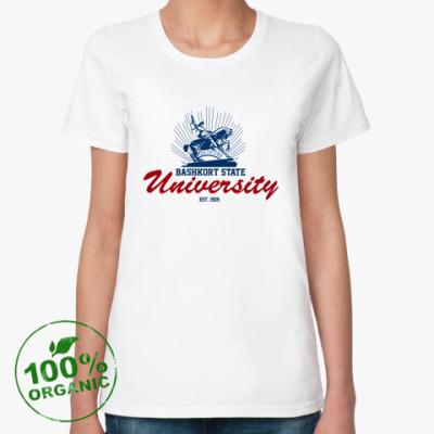 Женская футболка из органик-хлопка БГУ