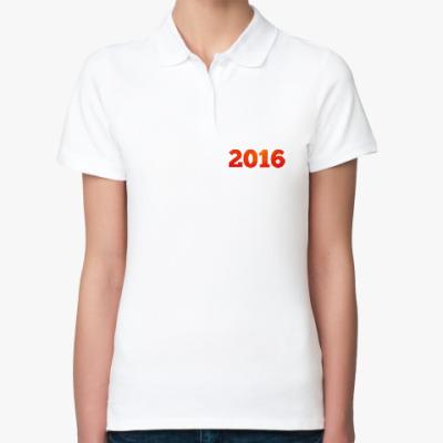 Женская рубашка поло Год Огненной Обезьяны 2016