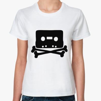 Классическая футболка Кассета и кости