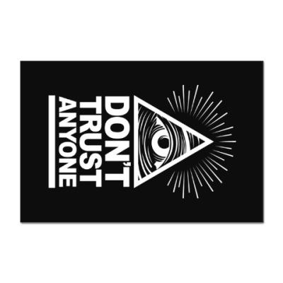 Наклейка (стикер) Don't Trust Anyone