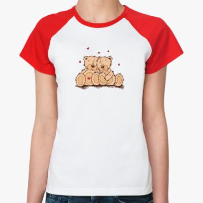 Женская футболка реглан Mish Love