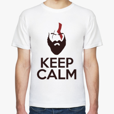 Футболка Кратос Keep Calm | Kratos God of War
