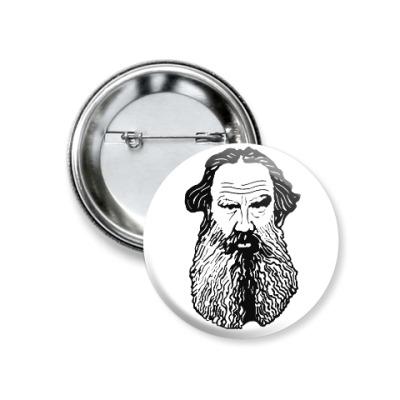 Значок 37мм Лев Толстой