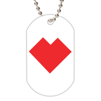 Жетон dog-tag Сердце танграм