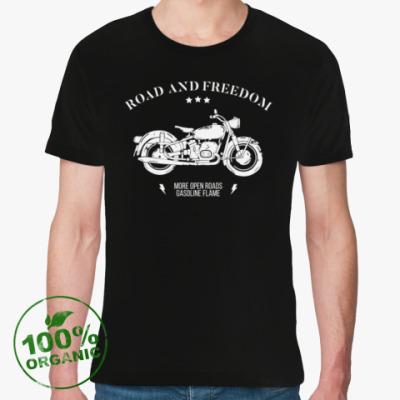 Футболка из органик-хлопка Король дорог (мотоцикл)