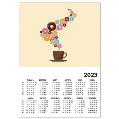 Календарь Кофе с пончиками