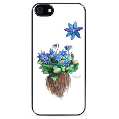 Чехол для iPhone Синий цветок