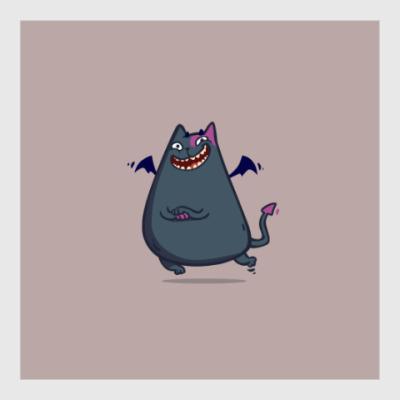 Постер Бесокот — Пятничный Котик №43