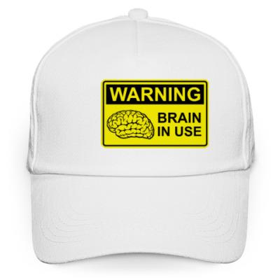 Кепка бейсболка Brain in use