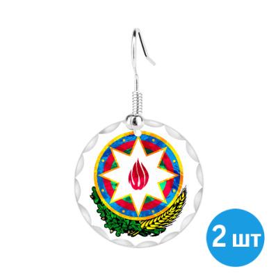 Серьги Герб Азербайджана