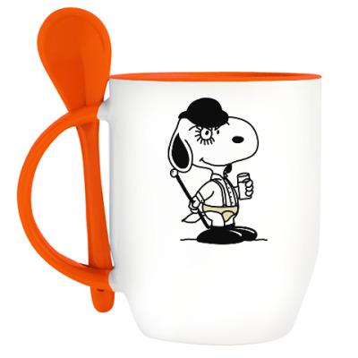 Кружка с ложкой Snoopy Clockwork Orange