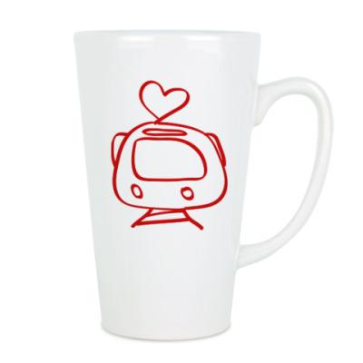 Чашка Латте Я люблю трамвай