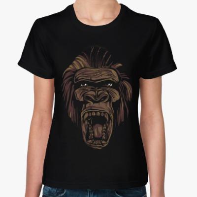 Женская футболка Горилла