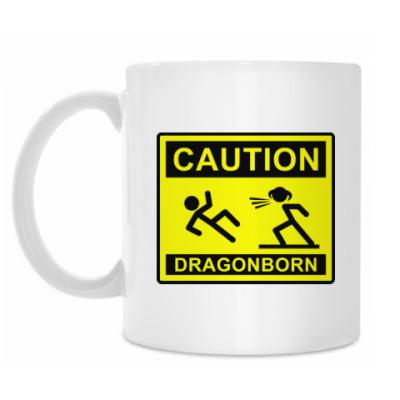 Кружка Caution ! Dragonborn . Skyrim