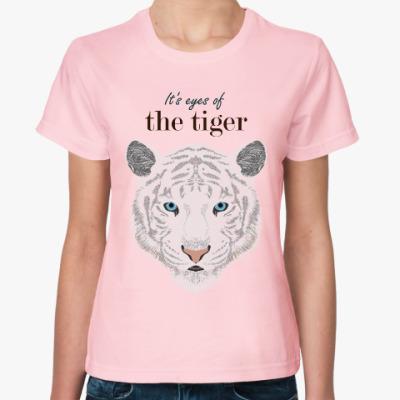 Женская футболка Глаза белого тигра