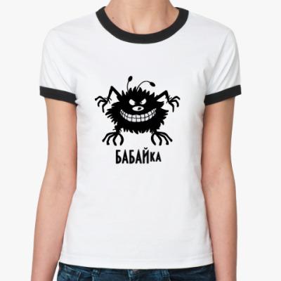 Женская футболка Ringer-T Бабайка
