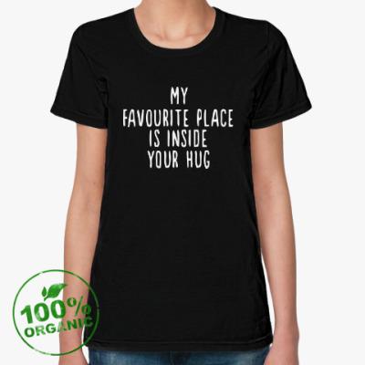 Женская футболка из органик-хлопка Hugs