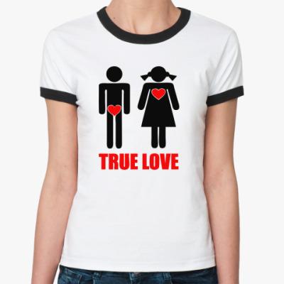 Женская футболка Ringer-T True Love