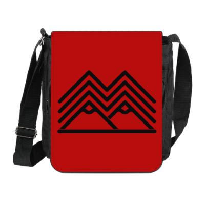 Сумка на плечо (мини-планшет) Символ Твин Пикс Twin Peaks