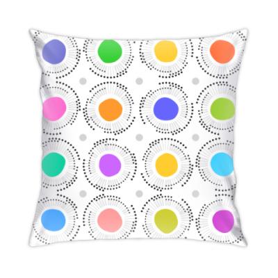 Цветные кружочки с лучиками
