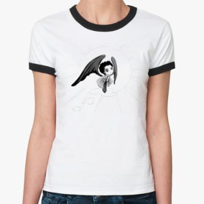 Женская футболка Ringer-T Castiel