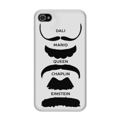 Чехол для iPhone 4/4s Усы Знаменитостей