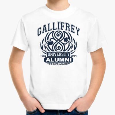 Детская футболка Gallifrey University Alumni