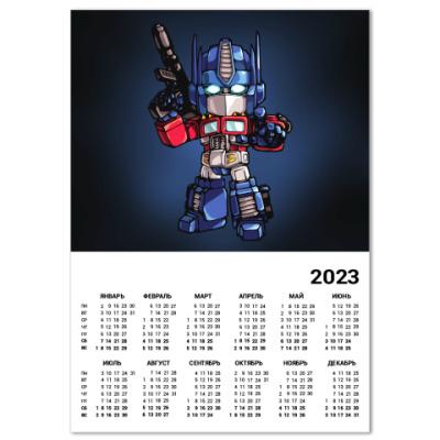 Календарь Optimus Prime
