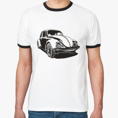 Футболка Ringer-T Retro VW Beetle