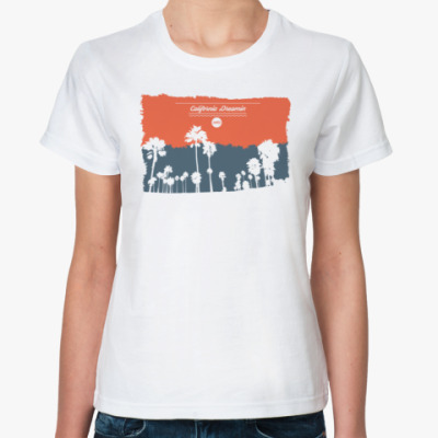Классическая футболка Город в Калифрнии (USA)