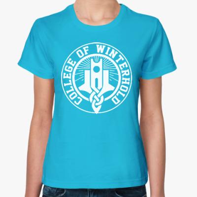Женская футболка Skyrim . College of Winterhold