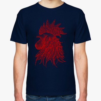 Футболка Красный петух символ Года