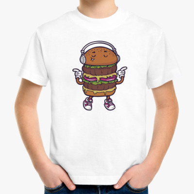 Детская футболка Двойной музыкальный бургер