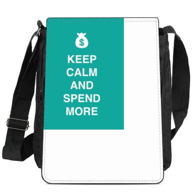 Сумка-планшет Keep calm and spend more