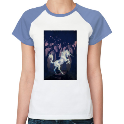 Женская футболка реглан  Единорог