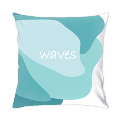 Подушка Морские волны