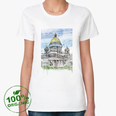 Женская футболка из органик-хлопка Исаакиевский собор . Питер