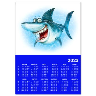 Календарь Акула