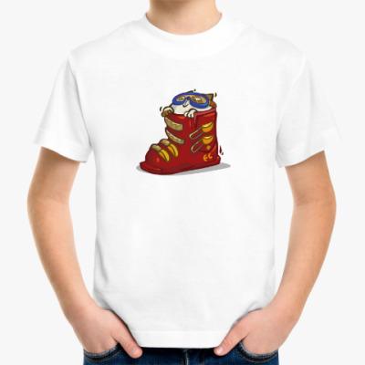Детская футболка Лыжекот — Пятничный Котик №41