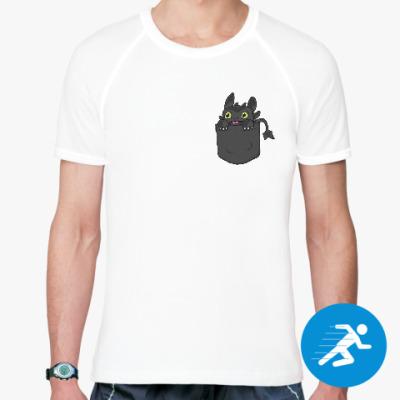 Спортивная футболка Ночная Фурия в кармане