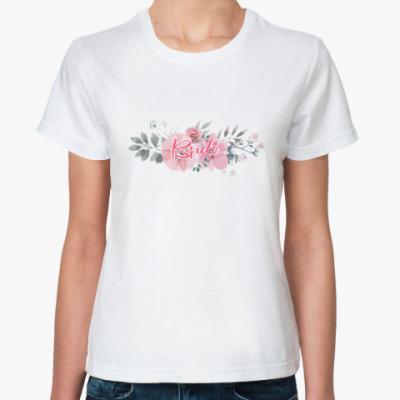 Классическая футболка Невеста / Bride / Цветы