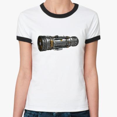 Женская футболка Ringer-T Турбореактивный двигатель