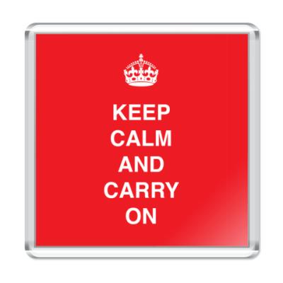 Магнит Keep calm and carry one