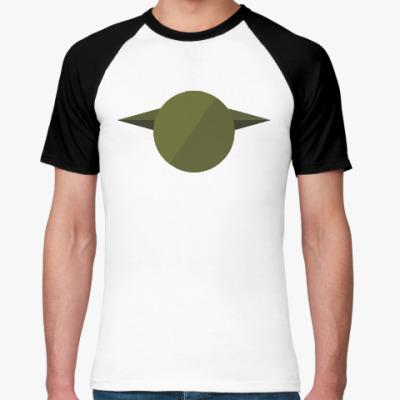 Футболка реглан Магистр Йода (Yoda) минимализм