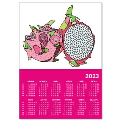 Календарь SUMMER FRUIT  Dragon Fruit